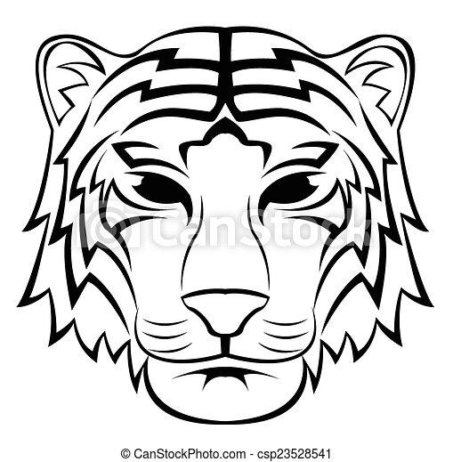 Tiger Head Tattoo - csp23528541