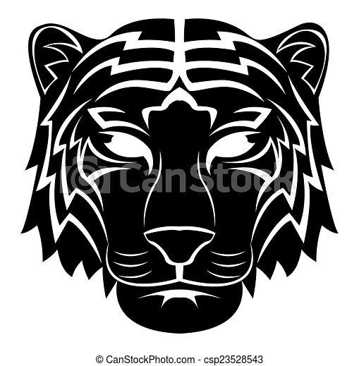 Tiger Head Tattoo - csp23528543