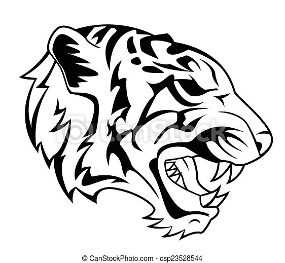 Tiger Head Tattoo - csp23528544