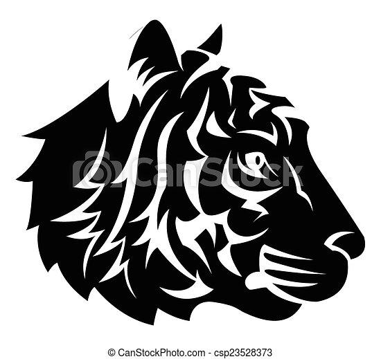 Tiger Head Tattoo - csp23528373