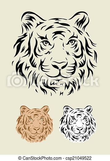 Tiger Head Tribal Tiger Art Tattoo Design Vector File