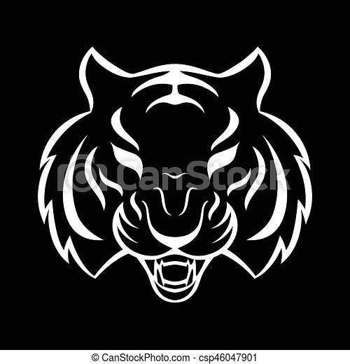 Tiger icon isolated on a white background tiger logo for Can you bleach white shirts with logos