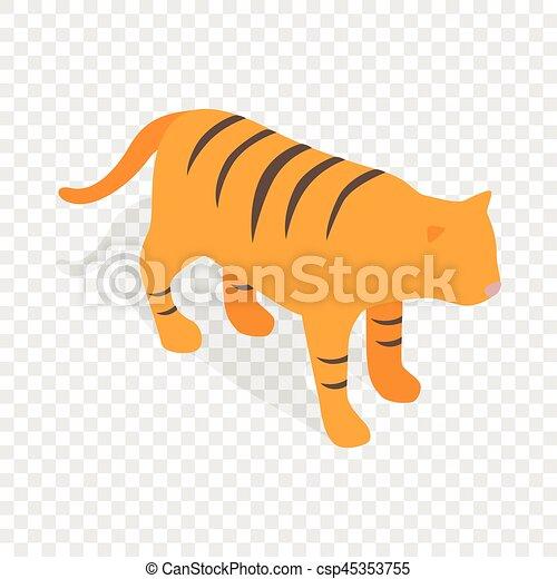 Tiger Isometric Icon Tiger Symbol Of South Korea Economics