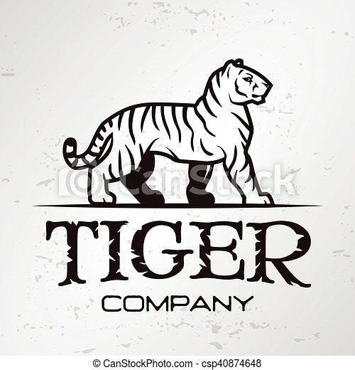 Tiger Logo Emblem Template Brand Mascot Symbol For Business Or