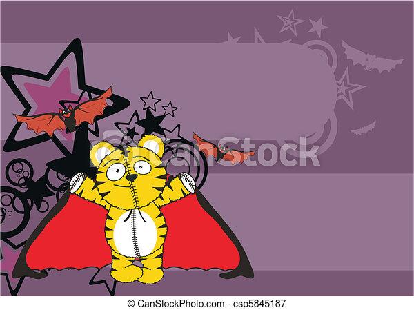 Tiger pipistrello cartone animato fondo pipistrello formato