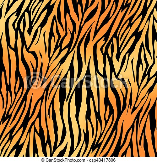 tiger print pattern and background vector illustration