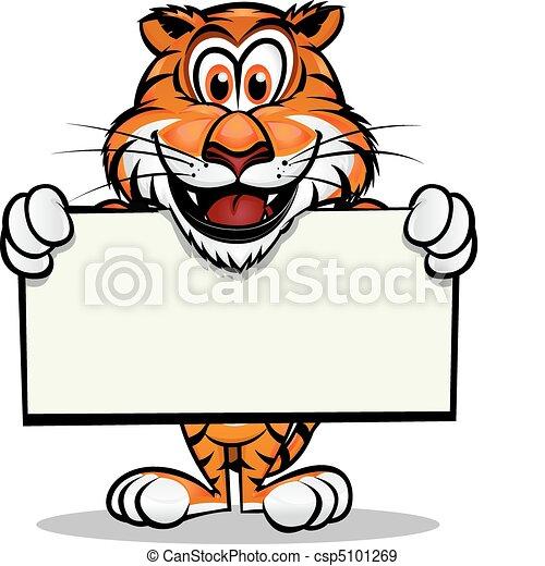 tiger, reizend, maskottchen - csp5101269