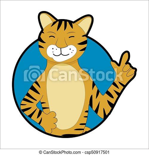 Tiger sticker icon avatar csp50917501