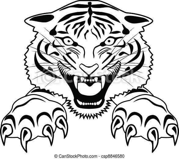 Tiger Tattoo - csp8846580