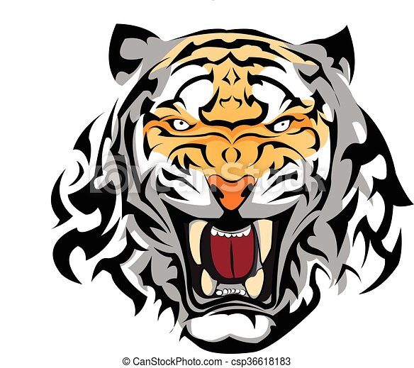 tiger tattoo vector graphic tiger vector design for tattoo rh canstockphoto com tiger vector art free download tiger vector graphic