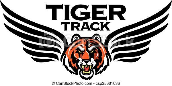 tiger track - csp35681036