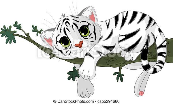 tiger, zweig - csp5294660