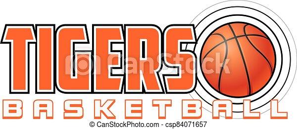 Tigers Basketball Design - csp84071657