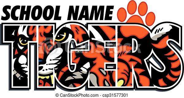 tigers school design - csp31577301
