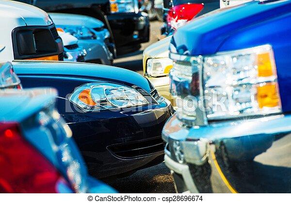 Tight Car Parking Closeup - csp28696674