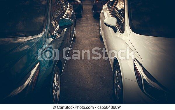 Tight Car Parking Spaces - csp58486091