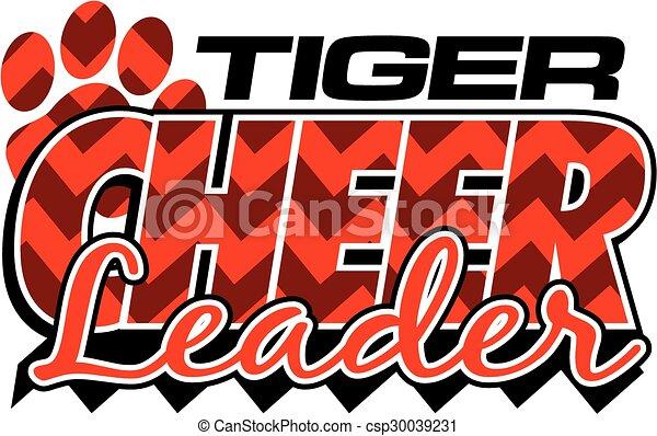 Porrista tigre - csp30039231