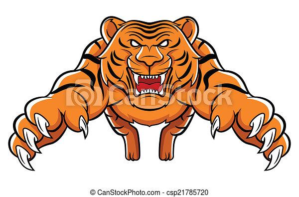 tigre, attaque - csp21785720