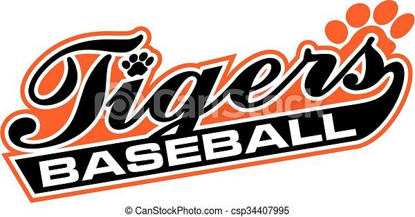 tigre, baseball - csp34407995