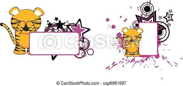 Libros de dibujos animados Tiger bebé - csp6981697