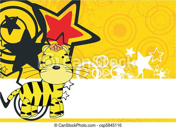 Los dibujos animados de tigre - csp5845116