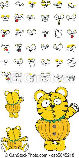 Un juego de dibujos animados - csp5845218