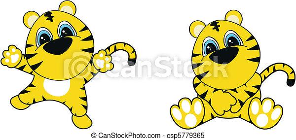 Dibujos de tigre - csp5779365