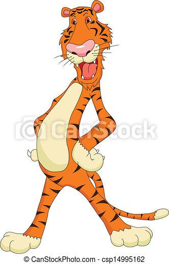 Bonita caricatura del tigre - csp14995162