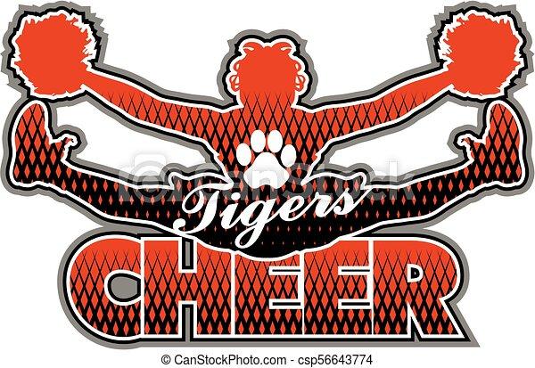 tigre, cheer - csp56643774