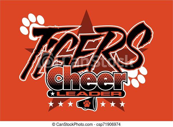 tigre, cheerleader - csp71906974