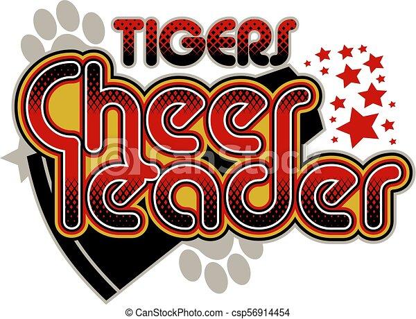tigre, cheerleader - csp56914454