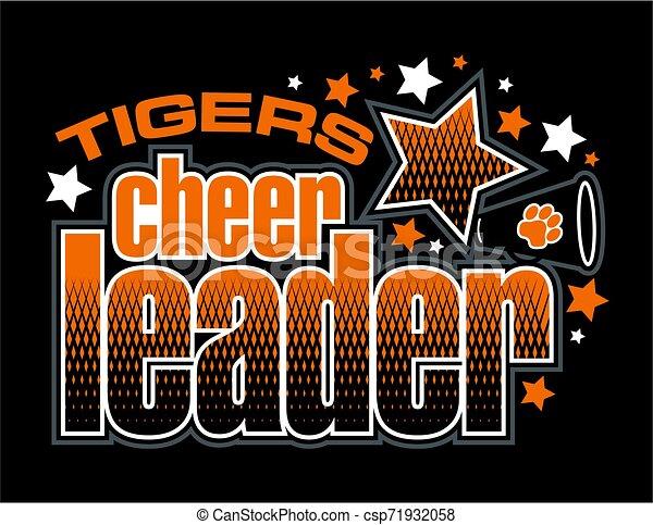 tigre, cheerleader - csp71932058