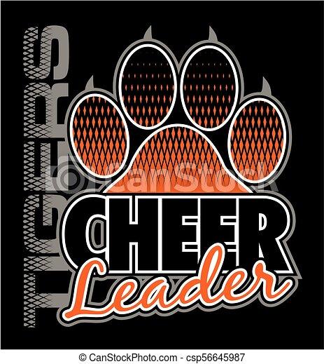 tigre, cheerleader - csp56645987