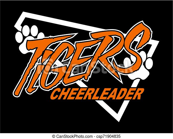 tigre, cheerleader - csp71904835
