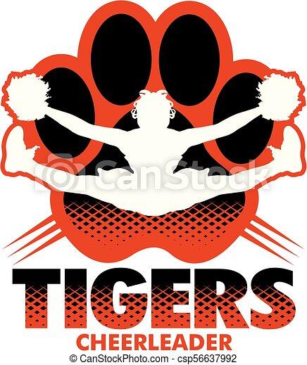 tigre, cheerleader - csp56637992