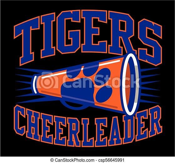 tigre, cheerleader - csp56645991