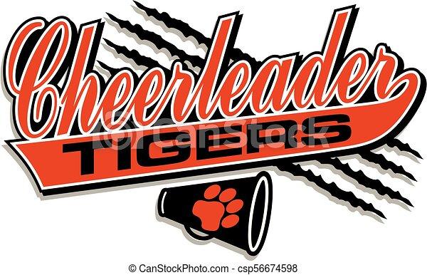 tigre, cheerleader - csp56674598