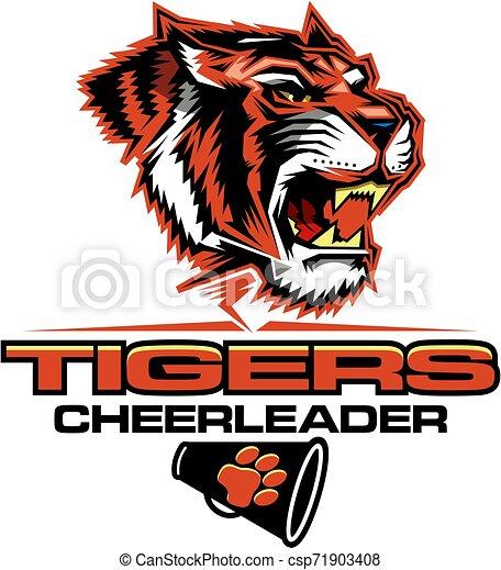 tigre, cheerleader - csp71903408