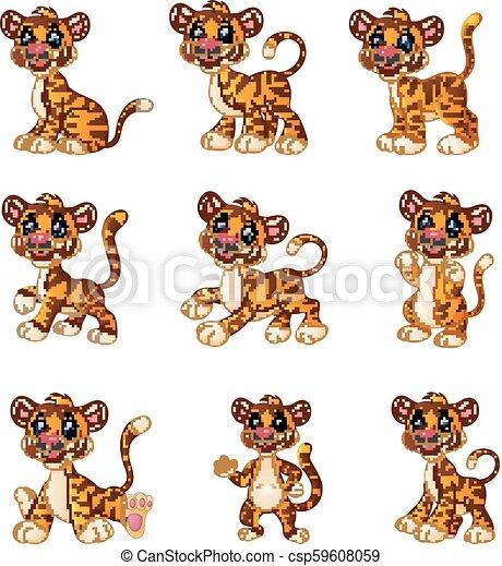 Colección de dibujos de tigre - csp59608059