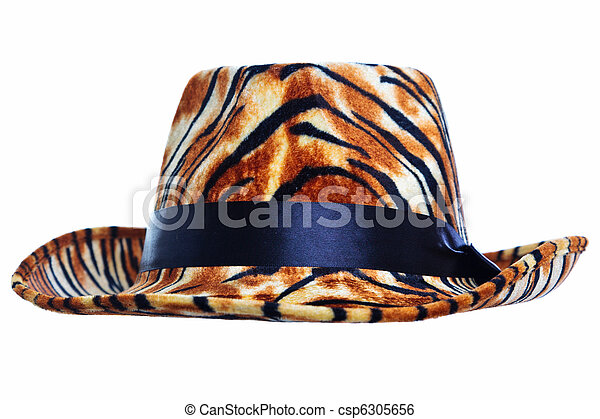 tigre, coupure, chapeau, dehors - csp6305656