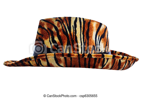 tigre, coupure, chapeau, dehors - csp6305655