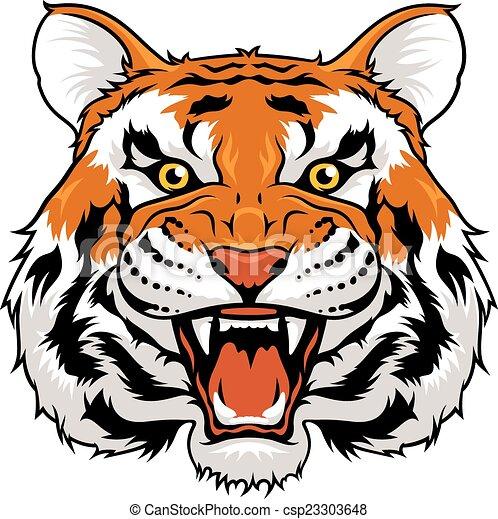 Tigre enojado - csp23303648