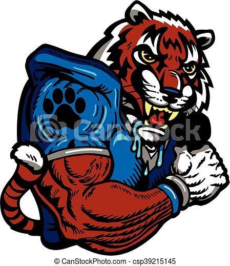 Fútbol de tigre - csp39215145