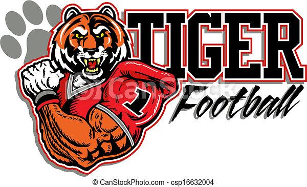 tigre, football, conception - csp16632004