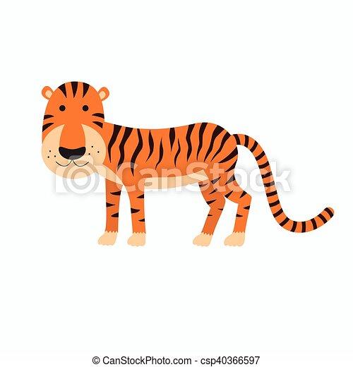 tigre, lindo, caricatura - csp40366597