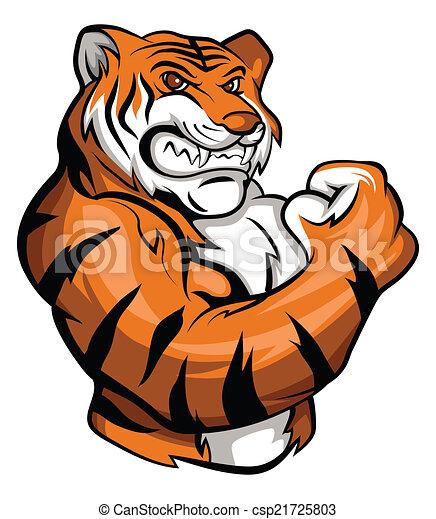 La mascota del tigre - csp21725803