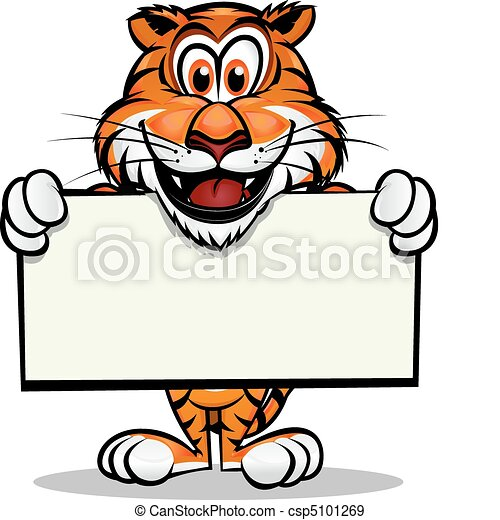 tigre, mignon, mascotte - csp5101269