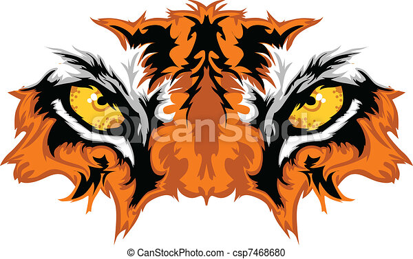 Ojos de tigre, mascota gráfica - csp7468680