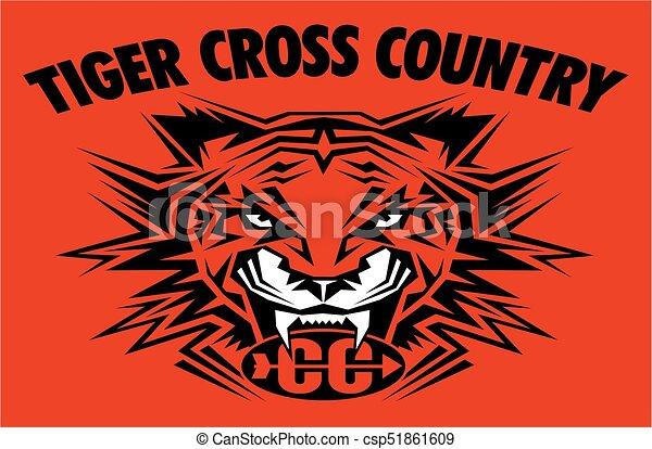 Tiger cruza el país - csp51861609