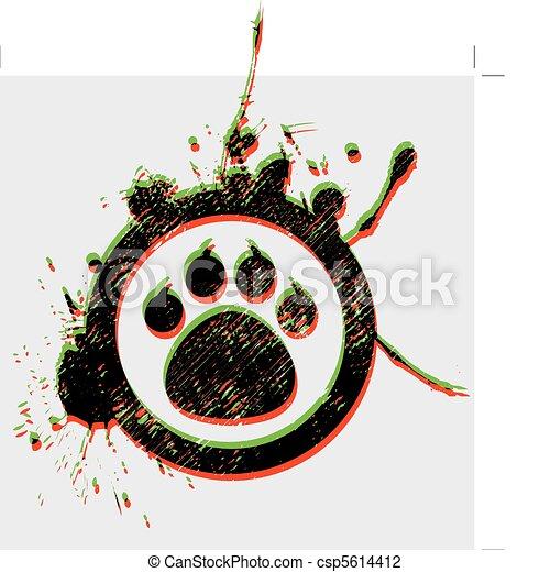 Pata de tigre - csp5614412